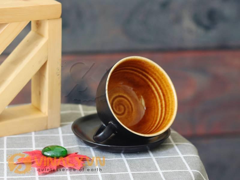 Hãy chon ngay cho quán cafe của bạn một ly sứ Cappuccino gốm men đen để khẳng định phong cách thương hiệu của bạn
