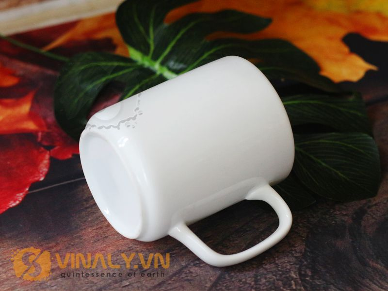Ly sứ trắng trụ đáy tù là sản phẩm rất đáng để thử tại Vinaly