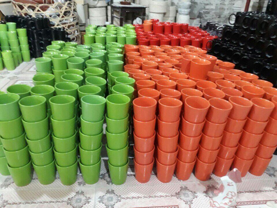 Dòng ly sứ không quai full màu được sản xuất với số lượng lớn tại Ly sứ Vinaly