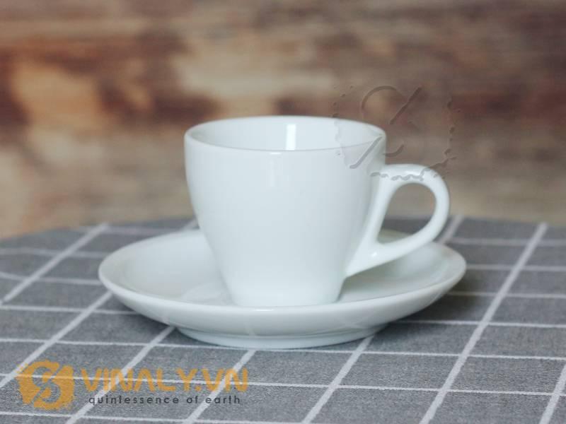Thiết kế của mẫu ly sứ cafe espresso trắng 90ml
