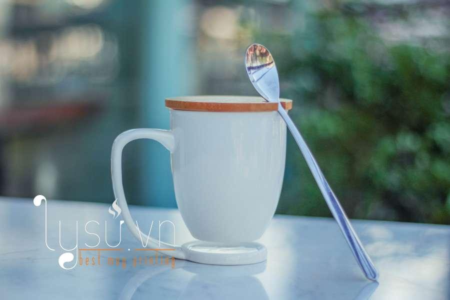 Ly cốc - Ly sứ Vinaly - Ly sứ trắng In hình, in logo làm quà tặng dễ thương