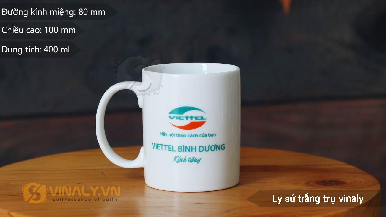 Ly sứ trắng cao cấp in logo doanh nghiệp - sản phẩm với chất lượng hàng đầu