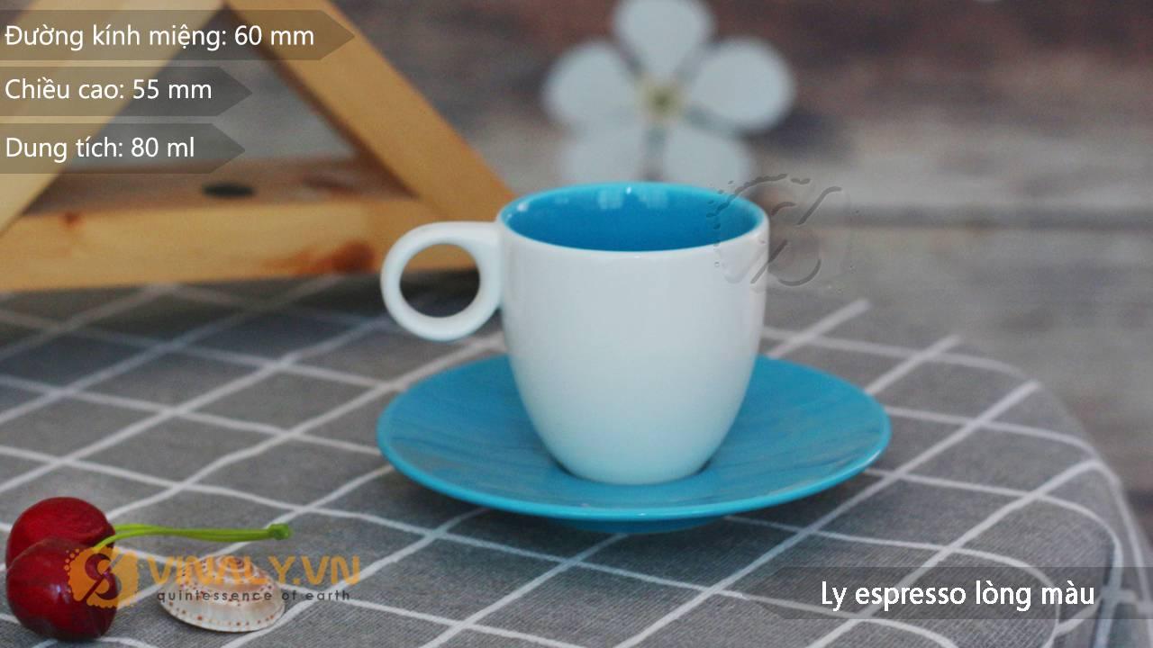 Thông số kỹ thuật ly Espresso lòng màu