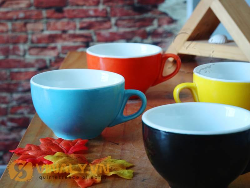 Ly sứ cafe cappuccino men màu