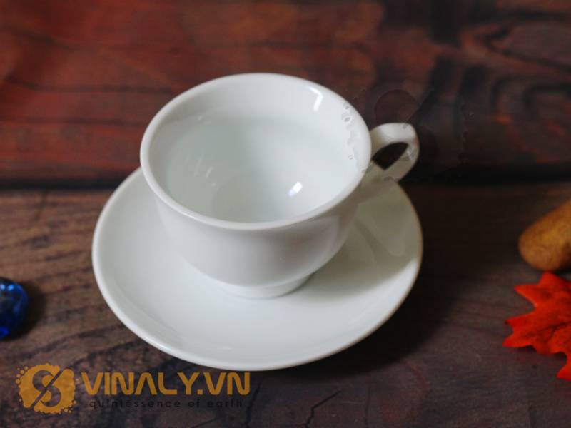 Ly sứ cafe miệng loe