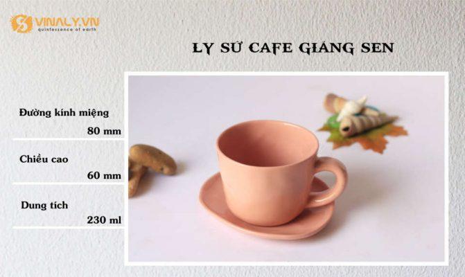 Avatar ly sứ cafe dáng sen