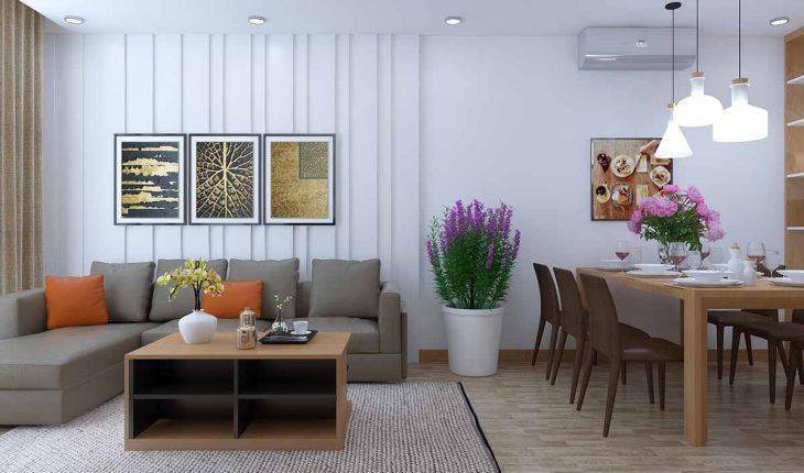 thiết kế nội thất trong phòng khách