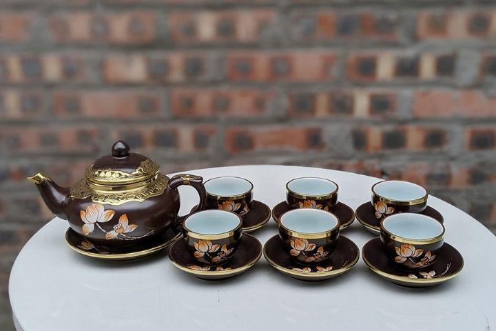 Bộ tách trà gốm Bát tràng