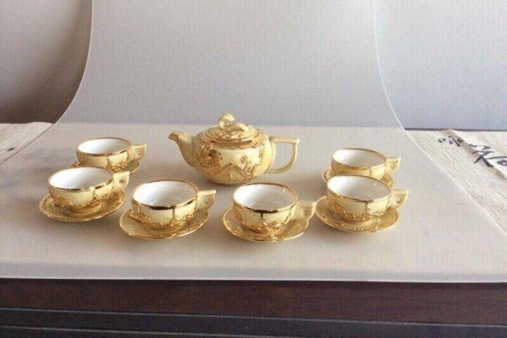 Bộ ấm trà Bằng Vàng