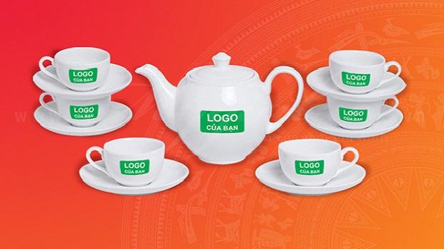 bộ ấm trà in logo doanh nghiệp