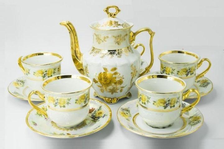 Bộ bình trà gốm sứ bát tràng