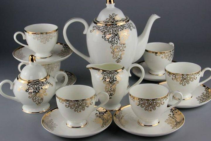 Bộ bình trà bằng sứ