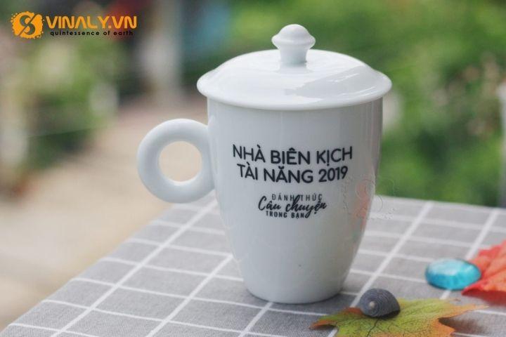 Ly sứ trắng uống trà
