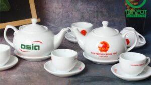 Bộ ấm trà bầu nhỏ thương hiệu Vinaly mẫu 02