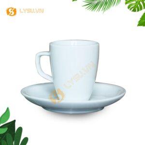 Ly sứ cà phê 100ml mặt trước