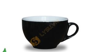 Ly sứ cappuccino men màu đen