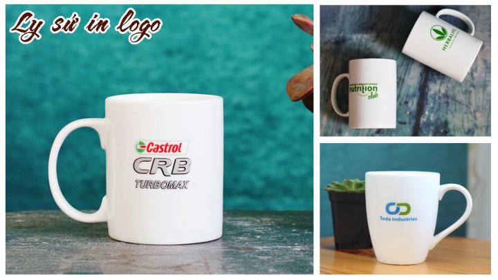 Ly sứ trắng in logo, hình ảnh chất lượng, giá tốt