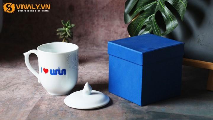 Ly sứ in logo quà tặng nhân viên ý nghĩa